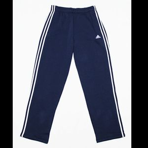 ADIDAS Men's Navy Fleece Track Sweatpants Joggers